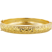 Robert Manse Designs 23K 1 Thai Baht Yellow Gold 7.5 in. Open Bangle