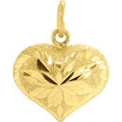 Robert Manse Designs 23K 1/4 Thai Baht Yellow Gold Heart Charm