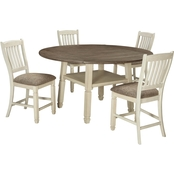 Signature Design by Ashley Bolanburg 5 pc. Drop Leaf Counter Table Set