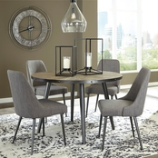 Signature Design by Ashley Coverty Round Dining Room Table with 4 Chairs
