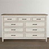 Bassett Bella Bedroom 9 Drawer Wood Top Dresser