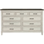 Bassett Bella Bedroom 9 Drawer Stone Top Dresser