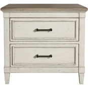 Bassett Bella Bedroom Wood Top Nightstand