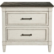 Bassett Bella Bedroom Stone Top Nightstand