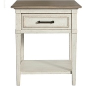Bassett Bella Bedroom Wood Top Bedside Table