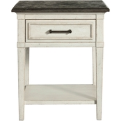 Bassett Bella Bedroom Stone Top Bedside Table
