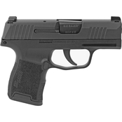 Sig Sauer P365 9MM 3.1 in. Barrel 10 Rds 2-Mags NS Pistol Black