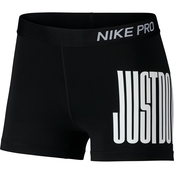 Nike Pro Shorts 3 in. Just Do It Block