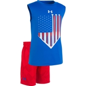 Under Armour Toddler Boys 2 pc. Americana Tank Set