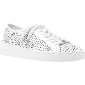 Michael Kors Keaton Perforated Leather Lace Up Sneakers