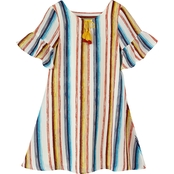 My Michelle Girls Printed Stripe Short Dress