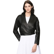 Armani Exchange Snap Front Leather Jacket