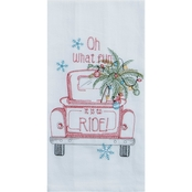 Kay Dee Designs Holiday Truck Embroidered Flour Sack Towel