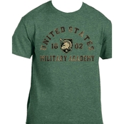 United States Military Academy Athena Shield Logo Tee