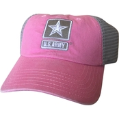BLYNC Washed Pink Mesh Army Cap