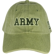 TLJ Marketing & Sales Washed Olive Army Flag Cap
