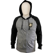 Army West Point Athena Shield Logo Zipper Hooded Tee