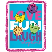 Springs Creative Shopkins Moose Love, Fun and Laughter No Sew Fleece Throw Kit