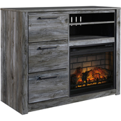 Signature Design by Ashley Baystorm Media Chest with Fireplace Insert