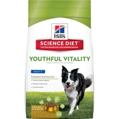 Hill's Science Diet Senior Youthful Vitality Chicken and Rice Dry Dog Food 12.5 lb.
