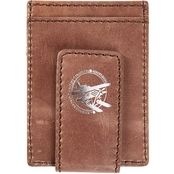 RFID Blocking Distressed Leather Money Clip