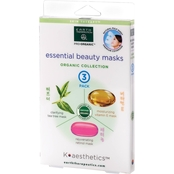 Earth Therapeutics K Aesthetics Organic Essential Beauty Masks 3 pk.