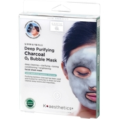 Earth Therapeutics K Aesthetics Deep Purifying Charcoal Bubble Mask, 3 pk.