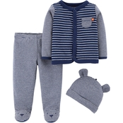 Carter's Infant Boys 3 pc. Footed Pants Set