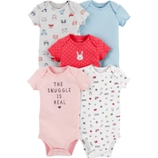 Carter's Infant Girls Snuggle is Real 5 pc. Assorted Bodysuit Set
