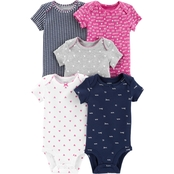 Carter's Infant Girls Hearts Assorted Bodysuit 5 pk.