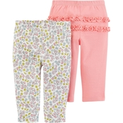 Carter's Infant Girls 2 pc. Pull On Pants Set