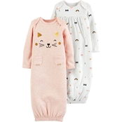 Carter's Infant Girls 2 pc. Sleeper Gown Set