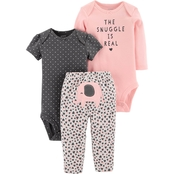 Carter's Infant Girls 3 pc. Little Character Bodysuit and Pants Set