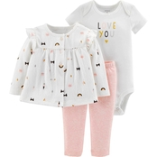 Carter's Infant Girls 3 pc. Cardigan Set