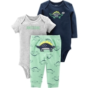 Carter's Infant Boys 3 Pc. Dinosaur Set