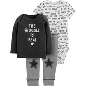 Carter's Infant Boys 3 Pc. Snuggle is Real Set