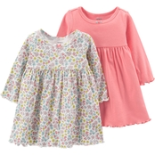 Carter's Infant Girls Pink Floral Dress Set, 2 Pk.