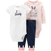 Carter's Infant Girls Pink Bunny 3 Pc. Set
