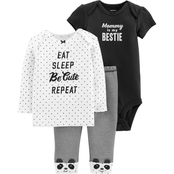 Carter's Infant Girls Black White 3 Pc. Set