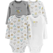 Carter's Infant Boys Neutral Solid Bodysuit, 4 Pk.