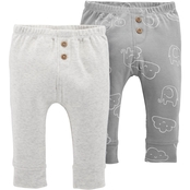 Carter's Infant Boys Neutral Pants, 2 Pk.