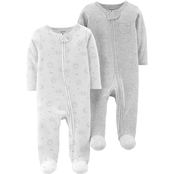 Carter's Infant Boys Zip Snap Neutral Sleep & Play, 2 Pk.