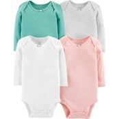 Carter's Infant Girls Hearts Original Bodysuit 4 pk.