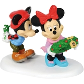 Enesco Disney Village Mickey's Mistletoe Surprise Figurine
