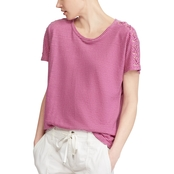 Lauren Ralph Lauren Textured Linen Cotton Top