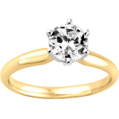 14K Gold 3/4 Ct. Diamond Solitaire Engagement Ring