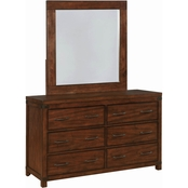 Scott Living Artesia Square Wood Frame Mirror