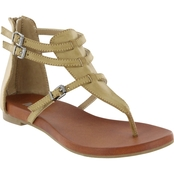 Mia Shoes Dashiell Adjustable Thong Sandals