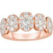 14K Rose Gold 1 1/3 CTW Diamond Wedding Band Ring