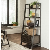 Coaster Deponte Industrial Tapering 2 Drawer Bookcase